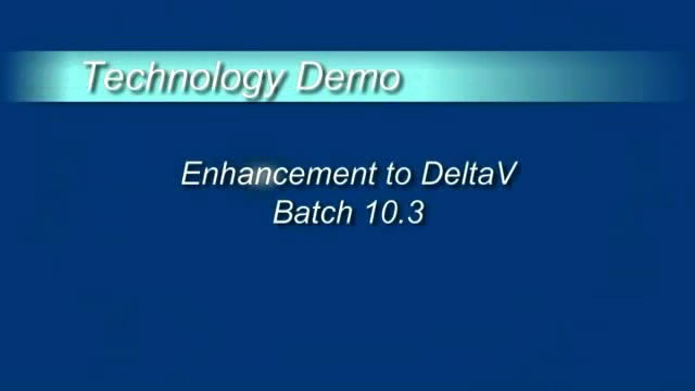 Enhancement to DeltaV Batch 10.3