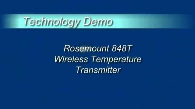 艾默生推出848T无线温度传感器