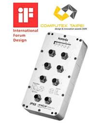 korenix 6口网管型M12/IP68工业以太网交换机JetNet 4506-M12