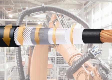 易格斯可扭转的特殊电缆Chainflex CF Robot