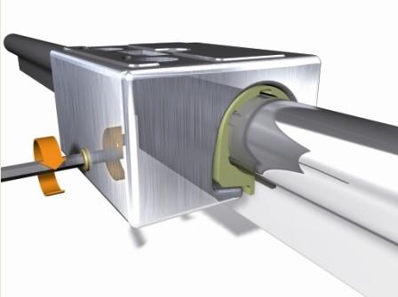 易格斯可调节轴承间隙的DryLin W导向系统