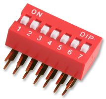 MULTICOMP - MCDA07 - SWITCH DIL R/A 7WAY