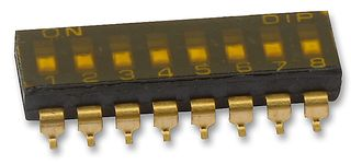 MULTICOMP - MCDM(R)-08-T - 开关 DIL SMD 8路