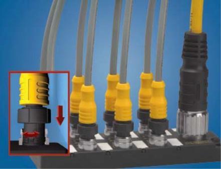 TURCK最新4针和5针S12快速连接接插件