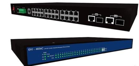 研华EKI-4654C网管型千兆冗余以太网工业交换机