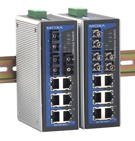 东营 MOXA EDS-309-3M-SC  代理 交换机