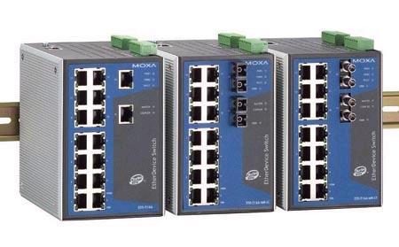 南平 MOXA EDS-516A-MM-ST 代理 光纤环网交换机