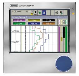 不锈钢面板的无纸记录仪JUMO LOGOSCREEN nt