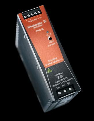 魏德米勒PRO-M电源——自动化技术应用中节省安装空间的电源