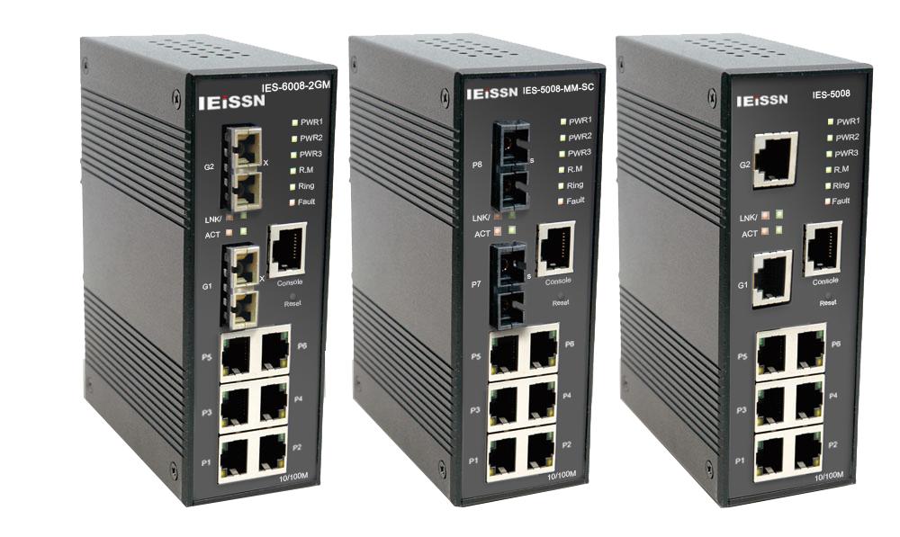 千兆导轨式管理型工业以太网交换机IIES-6000系列