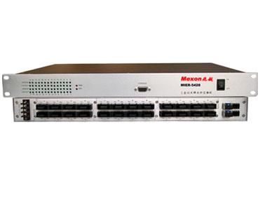 Mexon兆越 MIER-5428 24+4G 1000M自愈环工业以太网光纤交换机