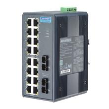 研华EKI-7526MI 16+2 SC型光纤非网管型宽温工业以太网交换机