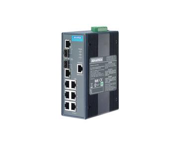 研华EKI-2748CI  6Gx+2 Combo 宽温网管型工业以太网交换机