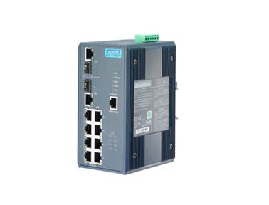 研华EKI-7659CPI 8+2G端口千兆宽温网管型冗余工业级PoE交换机