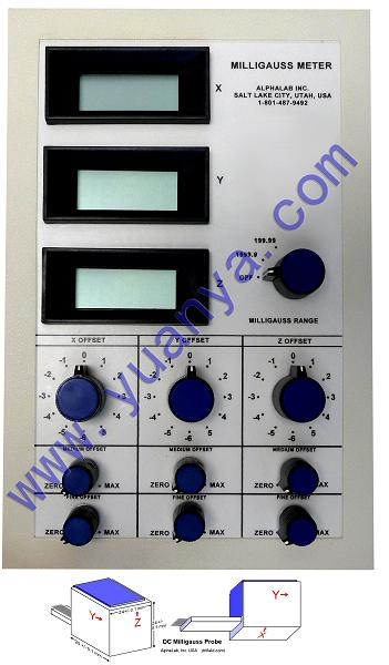阿尔法-直流磁强计(毫高斯)3轴-DCM-3
