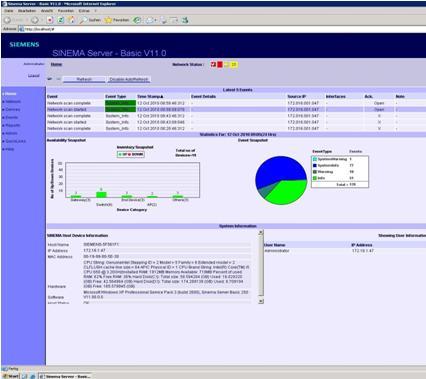 西门子工业网络管理平台SINEMA Server Basic V11