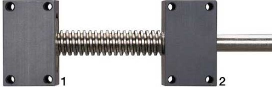 丝杠安装|丝杠螺母|梯形丝杠|直线导轨|易格斯主轴安装固定或浮动在基座上丝杠
