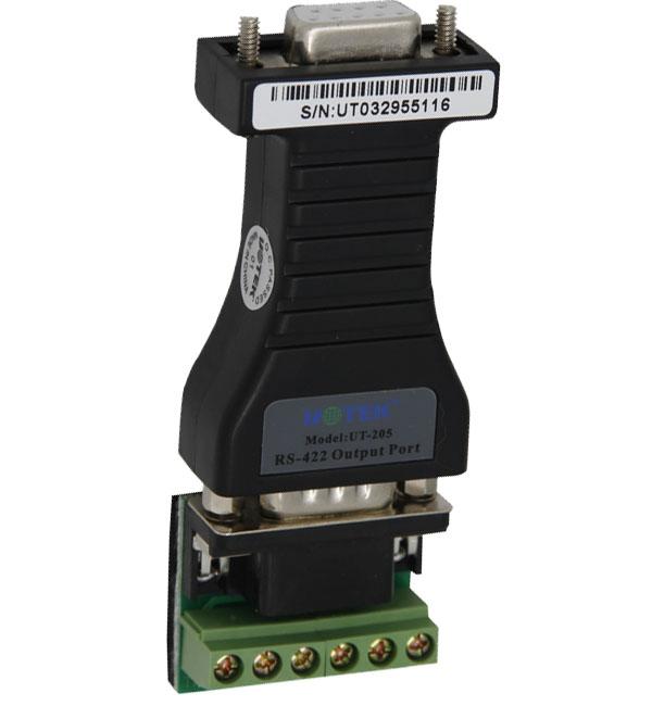 宇泰工业级RS232到422转换器--无源RS232转RS422 UT-205