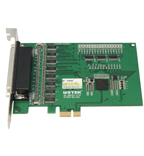 宇泰多串口卡--8口PCI-E转RS232多串口卡---UT-788