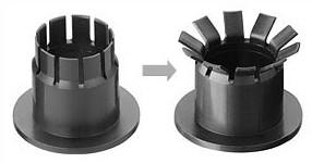 双法兰轴承|滑动轴承|易格斯iglidur MKM - 双法兰轴承压入,折倒,完成