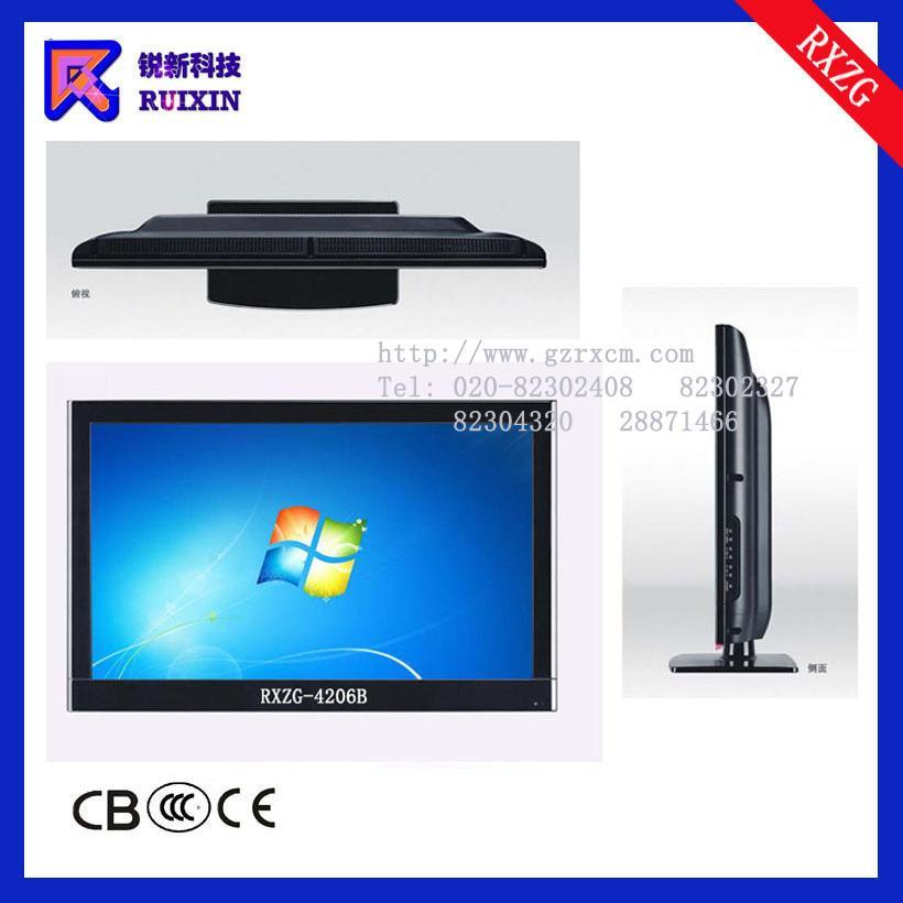 锐新RXZG-4206B高光防暴防水防尘触摸电脑一体机(单点多点)