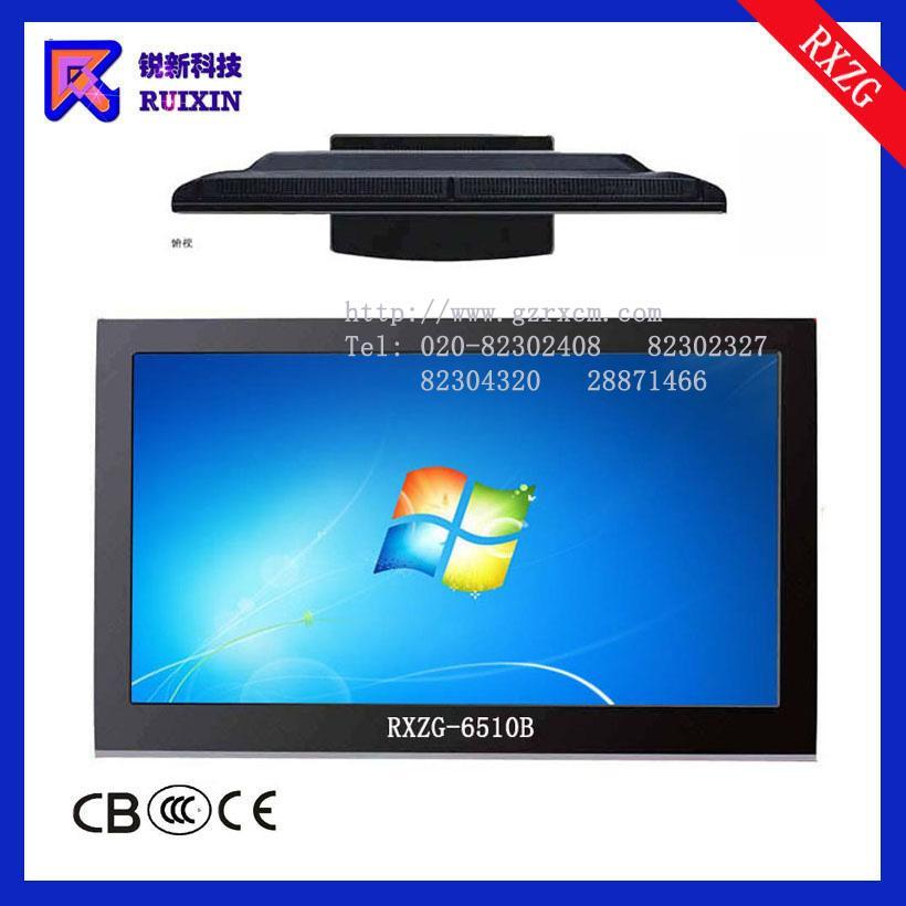 锐新RXZG-6510B高光防暴防水防尘触摸电脑一体机(单点多点)