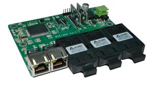 Mexon兆越 MIE-1305  3光2电工业以太网光纤交换机