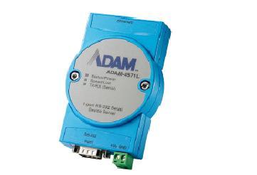 研华1 端口RS-232/422/485 或RS-232串行设备联网服务器ADAM-4571/L