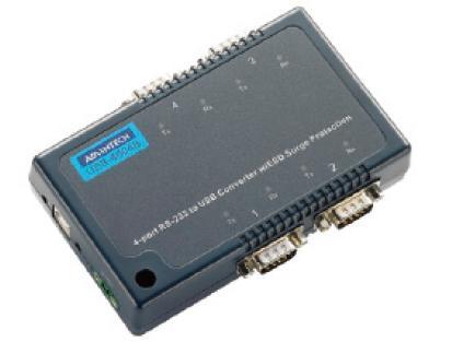 研华USB 转4端口RS-232 转换器,带浪涌保护USB-4604B