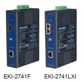 研华工业级千兆以太网光电转换器EKI-2741系列