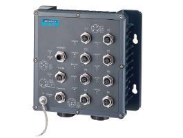 研华8×M12+2×LC光纤端口IP67宽温网管型工业以太网交换机EKI-6559TMI