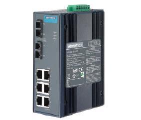 研华6G+2G SC 多模光纤端口全千兆宽温非网管型工业以太网交换机EKI-2728MI