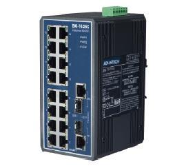 研华16+2GCombo端口非网管型工业以太网交换机EKI-7626CI/C
