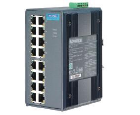 研华16+2SC多模光纤端口宽温非网管型工业以太网交换机EKI-7526MI