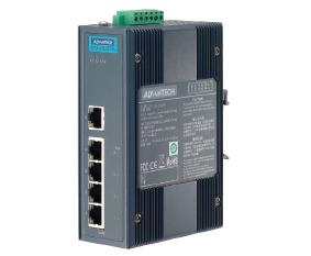 研华5端口非网管工业PoE交换机EKI-2525PA