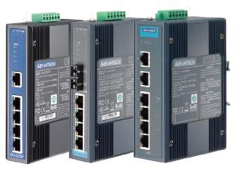 研华4+1SC单模光纤端口宽温工业PoE交换机EKI-2525SPI