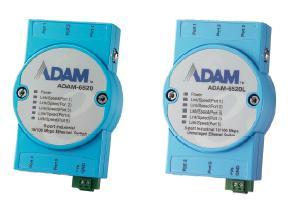 研华5端口非网管型工业以太网交换机ADAM-6520系列