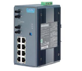 研华8+2多模光纤端口宽温非网管型工业以太网交换机EKI-7529MI/ST