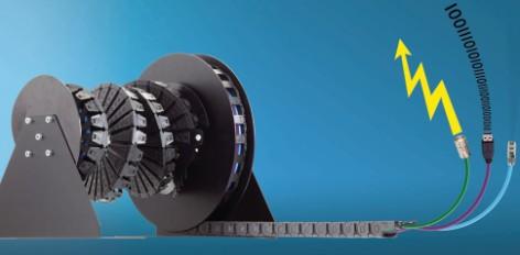 易格斯适用于圆周能量供应的e-spool系统