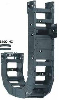 易格斯400系列拖链|塑料拖链| 电缆拖管|易格斯进口拖链