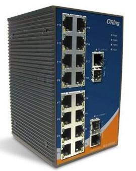 工业级导轨式快速以太网交换机--IES-1162GC
