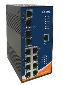 工业级导轨式快速PoE以太网交换机-- IPS-3082GC-24V
