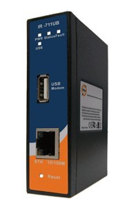 工业级导轨式3.5G行动VPN路由器--IR-711UB