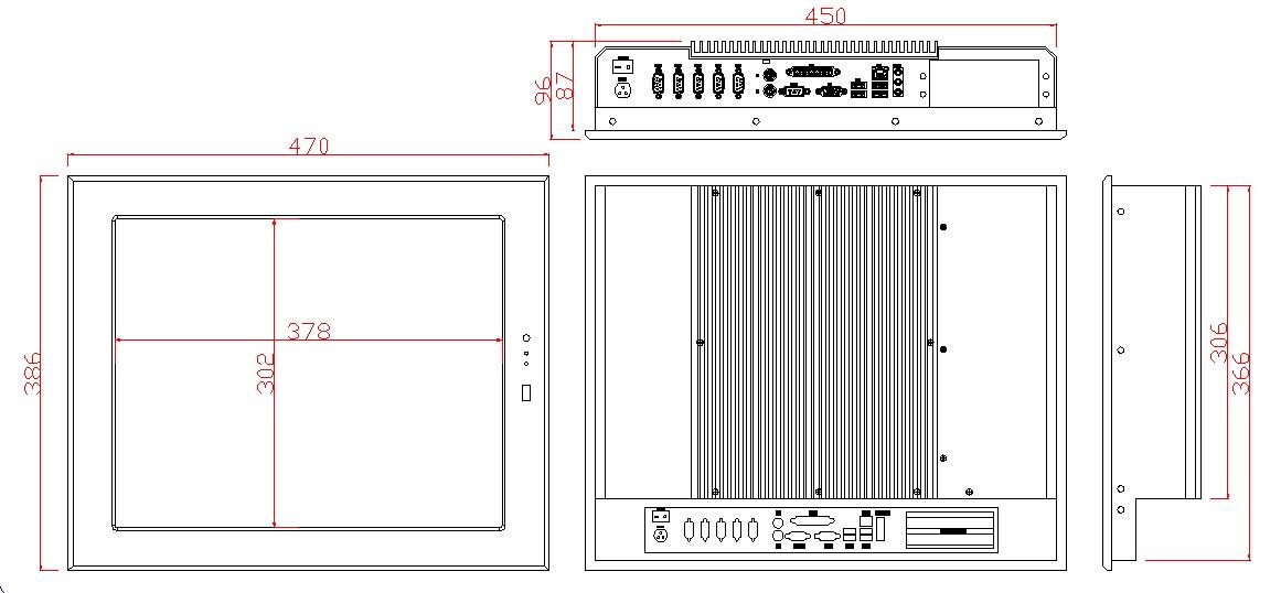 【宏国兴胜】AWS-190TE-525 19寸工业平板电脑