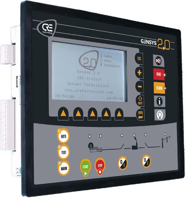 法国CRE-发电机组并机控制模块,柴油发电机组并机控制系统-Gensys 2.0