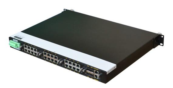 兆越Cronet CC-3428 24G+4G三层全千兆工业以太网交换机