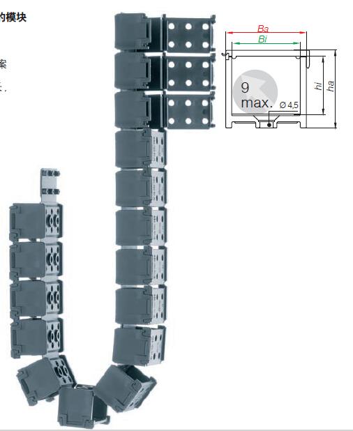 易格斯拖链 E1系列-模块化