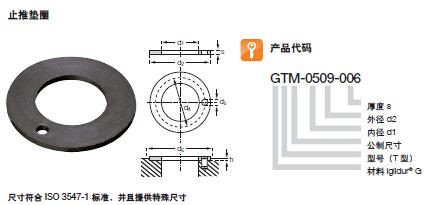 易格斯工程塑料止推垫圈GTM
