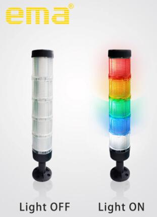 伊玛新推出50/70mm白色壳体高透光警示灯