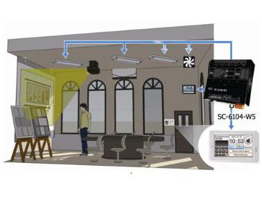 SC-6104-W5支持DCON与Modbus RTU多功能智能控制器